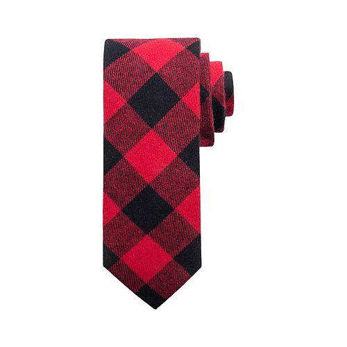 Men's Buffalo Plaid Tie