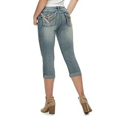 Women's Apt. 9® Embellished Cuffed Capri Jeans