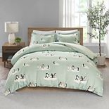 True North by Sleep Philosophy Cozy Flannel Penguin 3-piece Duvet Cover Set