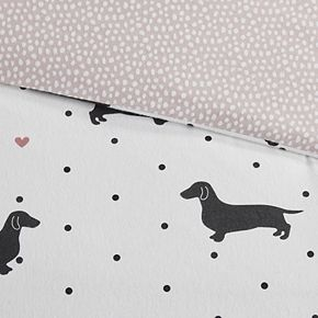 True North by Sleep Philosophy Cozy Flannel Dogs 3-piece Duvet Cover Set