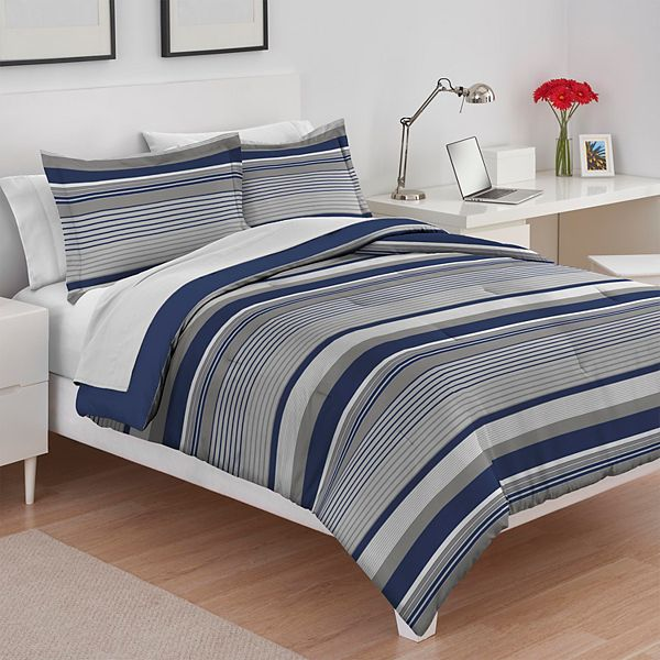 Izod Collegiate Stripe Comforter Set