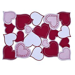 Celebrate Valentine's Day Together Hearts Cut-Out Placemat