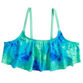Girls 7-16 SO® Flounce Bikini Swimsuit Top