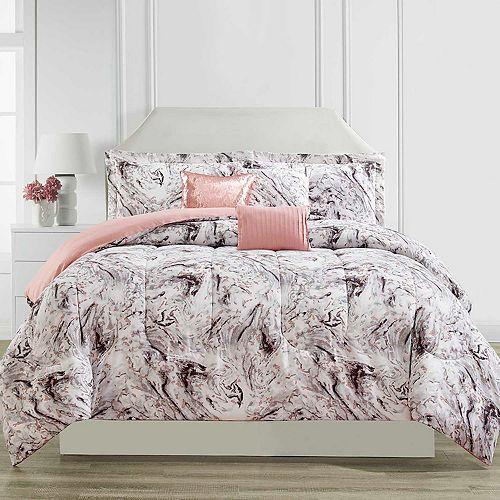 CosmoLiving by Cosmopolitan Marble Printed 6-piece Comforter Set