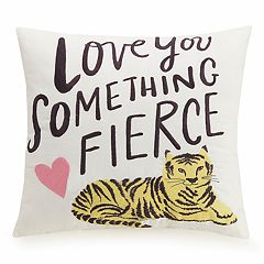 Makers Collective Hello! Lucky Fierce Throw Pillow