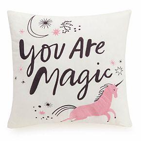 Makers Collective Hello! Lucky Magic Unicorn Throw Pillow