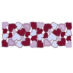 Celebrate Valentine's Day Together Hearts Cut-Out Table Runner - 36'