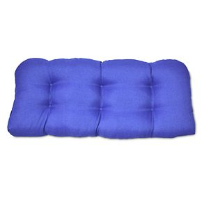 Outdoor Solid Tufted Settee Seat Cushion