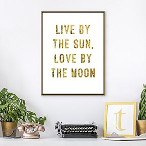 Artissimo Live By Framed Canvas Wall Art