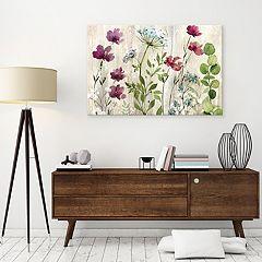 Artissimo Meadow Flowers I Canvas Wall Art