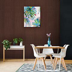 Artissimo Four Leaf Palm Canvas Wall Art