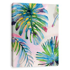 Artissimo Four Leaf Palm Canvas Wall Art