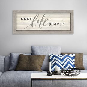 "Artissimo ""Keep Life Simple"" Rustic Wall Decor"