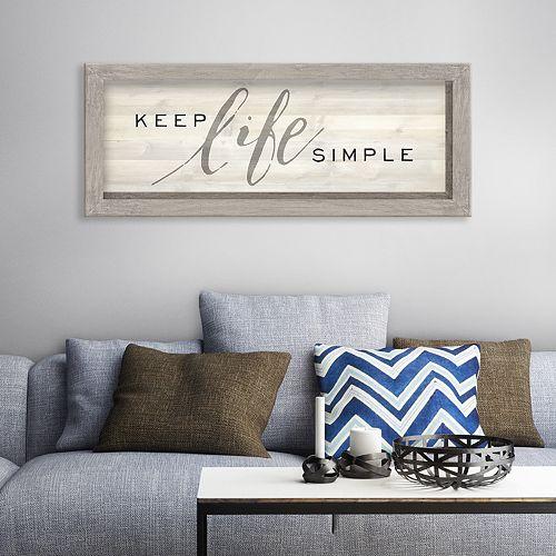 Artissimo Keep Life Simple Rustic Wall Decor