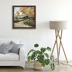 Artissimo Pasture Pathway Framed Canvas Wall Art