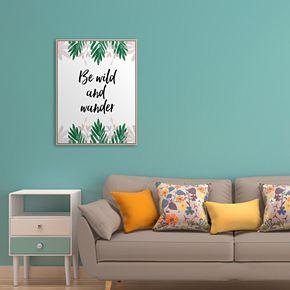 "Artissimo ""Wander"" Framed Canvas Wall Art"