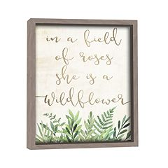Artissimo 'She Is A Wildflower' Wall Decor