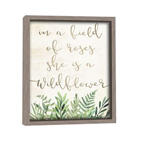 "Artissimo ""She Is A Wildflower"" Wall Decor"