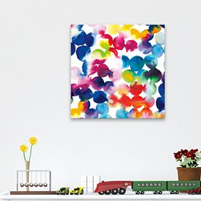 Artissimo Bright Circles Canvas Wall Art