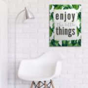 "Artissimo ""Enjoy The Little Things"" Canvas Wall Art"