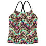 Girls 7-16 SO® Tribal X-Back Tankini Swimsuit Top