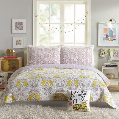 Hello! Lucky Tiger Flower Quilt Set