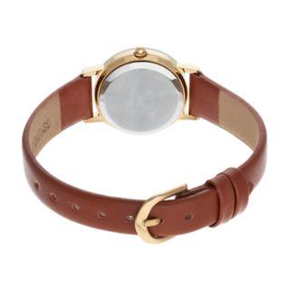 Armitron Women's Diamond Accent Leather Watch - 75-2447CHGPBNK