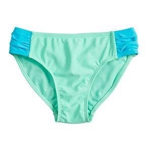 Girls 7-16 SO® Side Tab Swimsuit Bottoms
