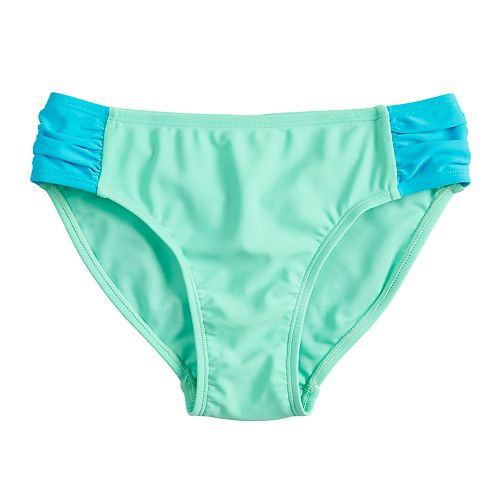 Girls 7-16 SO® Side Tab Swimsuit Bottoms