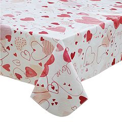 Celebrate Valentine's Day Together Vinyl Tablecloth