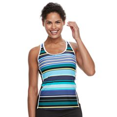 Women's ZeroXposur Striped Racerback Tankini Top
