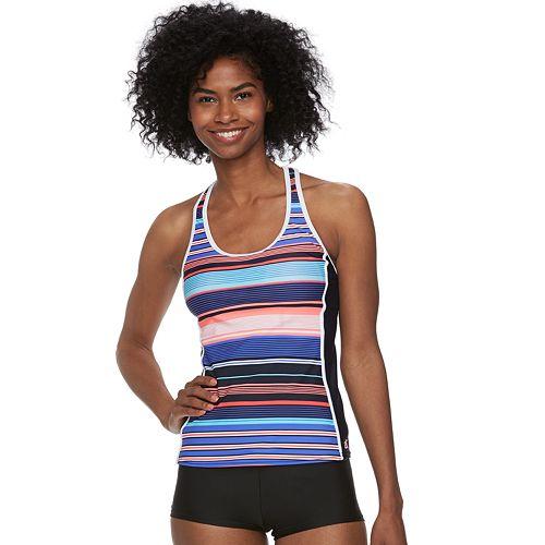 Women's ZeroXposur Striped Racerback Tankini Top