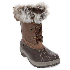 734b6f496d71 London Fog Milly Women s Waterproof Winter Duck Boots