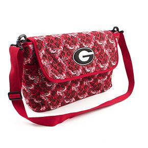 Georgia Bulldogs Quilted Messenger Bag