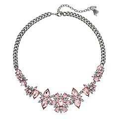 Simply Vera Vera Wang Pink Simulated Crystal Cluster Necklace