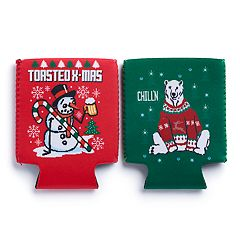Humorous Holiday 2-Pack Can Coolers