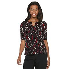 Women's Dana Buchman Print Metal-Bar Top