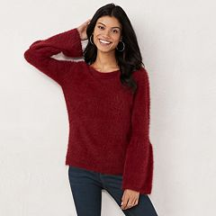 Women's LC Lauren Conrad Fuzzy Bell Sleeve Sweater