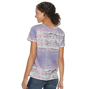 Juniors' Mudd® Burnout V-Neck Tee