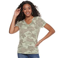 Juniors' Mudd® Burnout Short Sleeve Tee