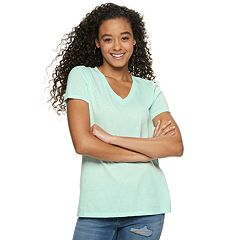 Juniors' SO® Burnout Short Sleeve Tee