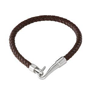 Simply Vera Vera Wang Braided Brown Leather Bracelet