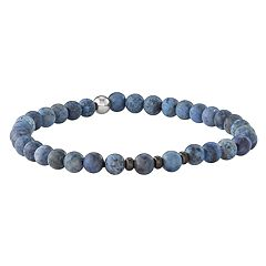 Simply Vera Vera Wang Men's Dumortierite & Stainless Steel Stretch Bracelet
