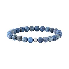 Simply Vera Vera Wang Men's Dumortierite Bead Stretch Bracelet