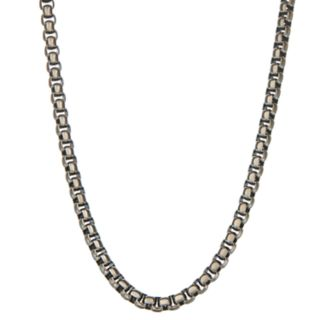 Simply Vera Vera Wang Men's Gunmetal Stainless Steel Chain Necklace - 22 in.