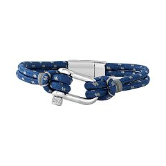 Simply Vera Vera Wang Men's Blue & Gray Nautical Cord Bracelet