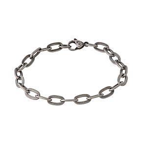 Simply Vera Vera Wang Men's Antiqued Stainless Steel Flat Chain Bracelet