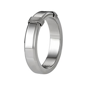 Simply Vera Vera Wang Men's Stainless Steel Polished Ring