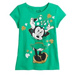 Disney's Minnie Mouse Girls 4-12 St. Patty's Day Tee by Jumping Beans®