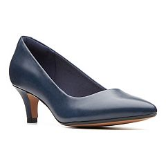 e5a76ce4957a Clarks Linvale Jerica Women s High Heels. Black Leather Navy Leather